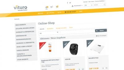 Screenshot Vituro Online-Shop