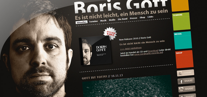 Boris Gott Webseite